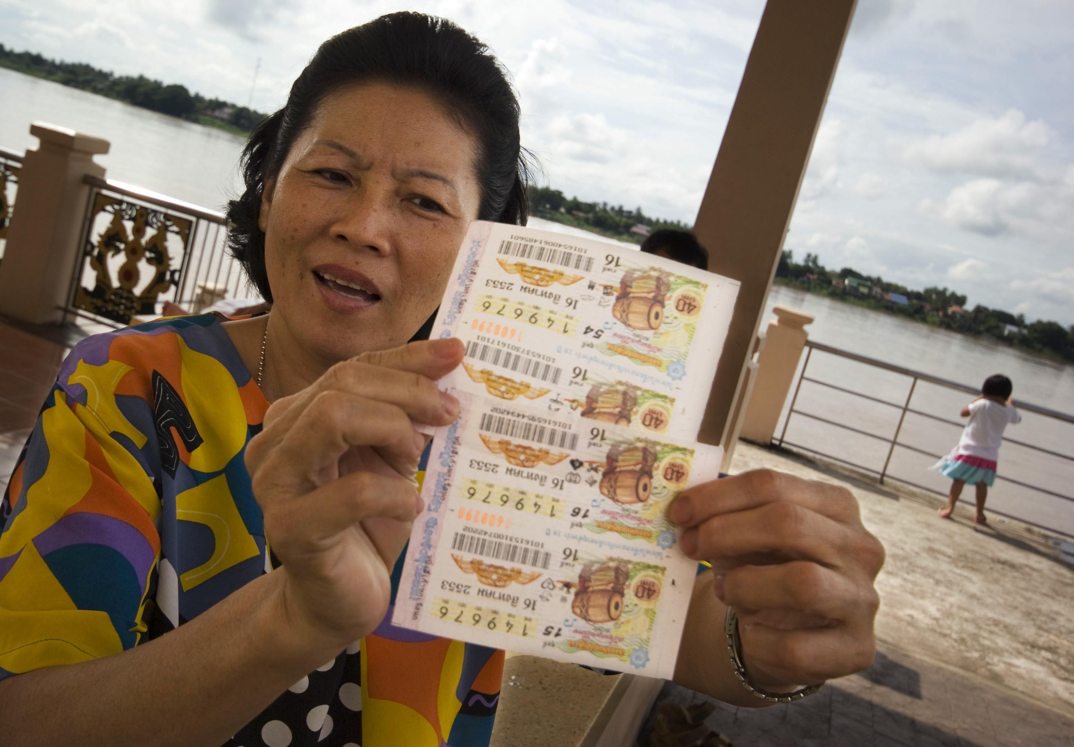 Biglietti della lotteria a Nong Khai (Thailandia)