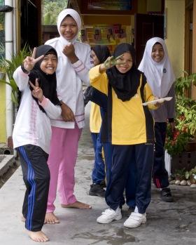 Studentesse musulmane