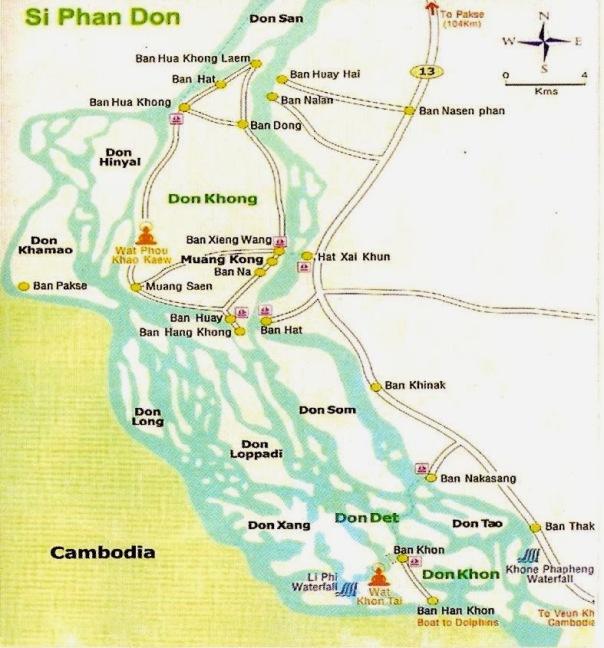 Mappa dell'area di Sii Phan Don