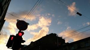 Il cielo di Riga alle dieci di sera