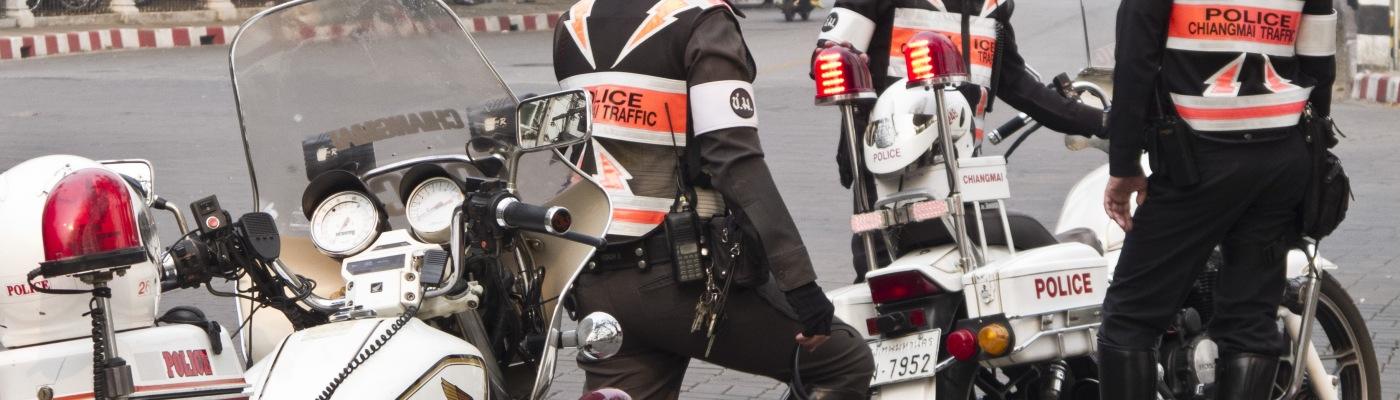 Chiang Mai (Thailandia), Polizia stradale in moto