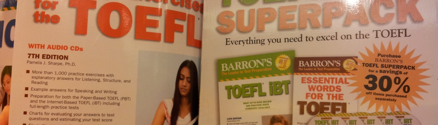 Corsi per TOEFL in una libreria thailandese