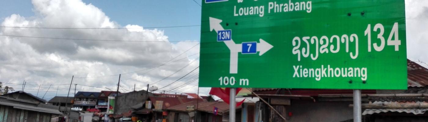 bivio di Phou Khoun, una delle zone a rischio