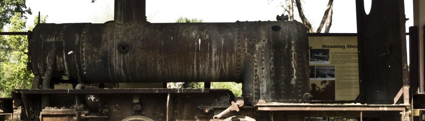 Locomotiva a vapore della ferrovia di Don Kone