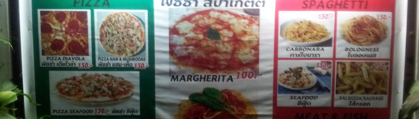 Un ristorante italiano in una cittadina dell'Isaan