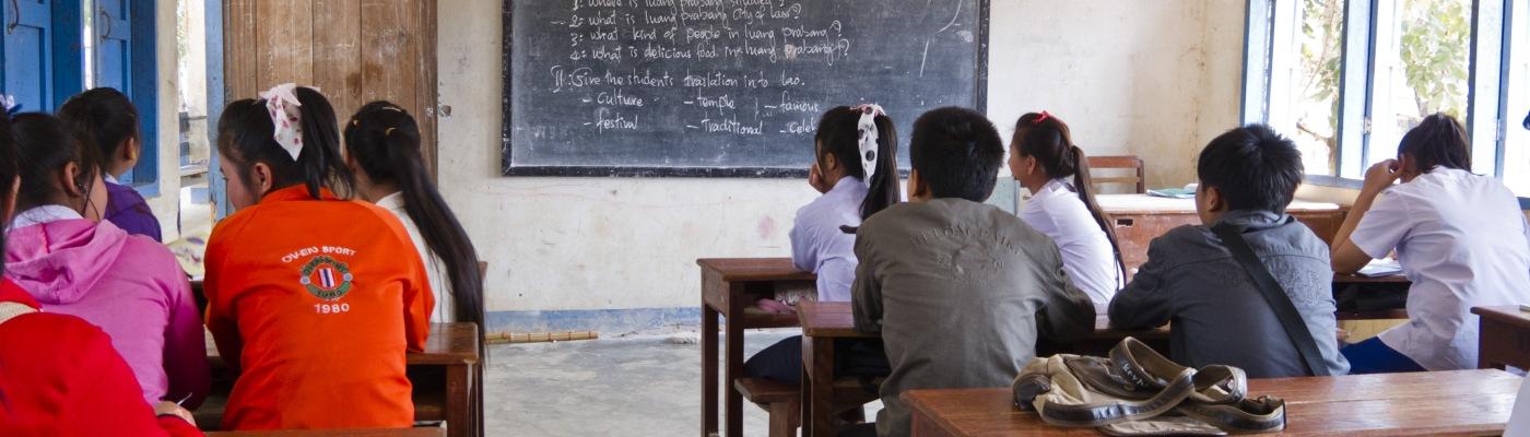 Aula scolastica di provincia in Laos